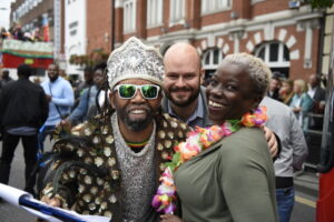 Mayor with Cllr Williams and the Hackney Carnival organiser