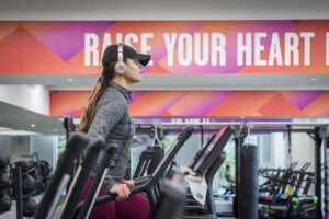 Woman working out at New Britannia Leisure centre